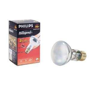 Philips 45 Watt Halogen R20 Flood Light Bulb 408831