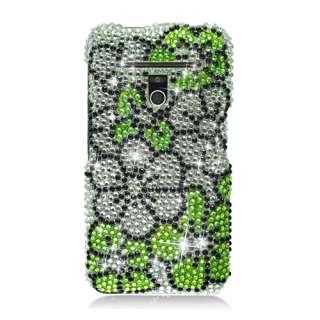 MS910/Revolution VS910 FULL CS DIAMOND Case Flower Green Silver