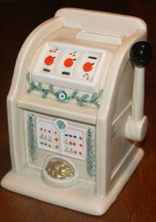 FITZ & FLOYD FF Slot Machine Casino Gambling 1980 Piggy Bank