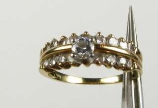 Stunning .35ctw .20ct Ctr Natural Diamond 14k Yellow Gold Wedding Set