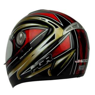 Black Red Dual Visor DOT APPROVED Motorcycle Full Face Helmet