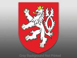 Czech Republic Crest Sticker decal bumper flag bohemia