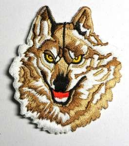 BROWN WOLF TWILIGHT SAGA IRON ON PATCH EMBROIDERED I062