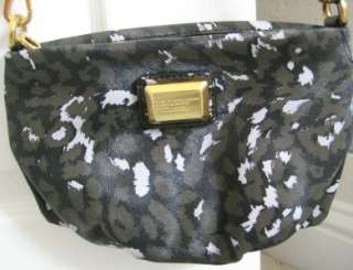 NWT Marc Jacobs Animal Q Percy Black Multi Crossbody Bag Purse Clutch