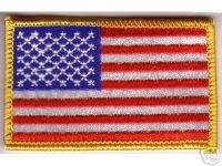 x3.25 Military Law Enforcement US Flag Embroidered Applique Patch