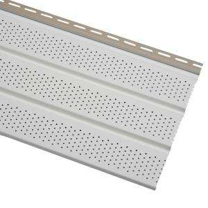 T4 144 in. White Vinyl Vented Soffit EVS12P04H