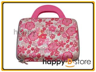 Pink Flower Print Laptop Hard Case for 10 Netbook