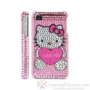Strass Hello Kitty Hülle Tasche Schale iPhone 4 4G Neu