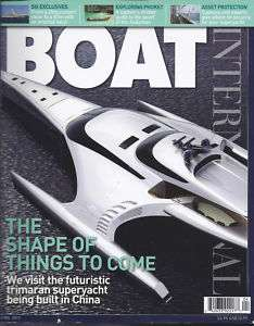 BOAT INTERNATIONAL MAGAZINE FUTURE TRIMARAN SUPERYACHT