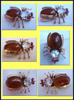Antique Belle Epoque brooch / pin in the form of an insect. Made
