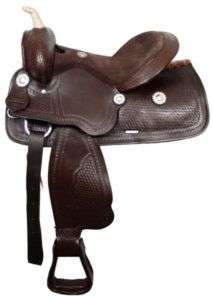 DOUBLE T   CUSTOM WESTERN BARREL RACING HORSE SADDLE