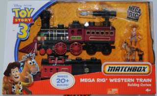 Disney Toy Story 3 Matchbox Mega Rig Western Building System Train New