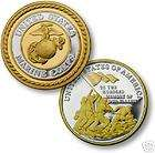MARINE CORPS FLAG .999 SILVER GOLD CHALLENGE COIN
