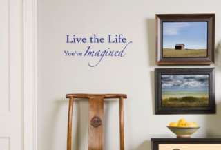 Live the Life Vinyl Wall Art Words Art Lettering Decal