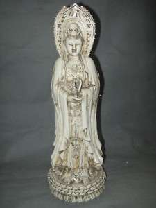 Chinese Dehua Porcelain 3  Faces Kwan Yin Statue