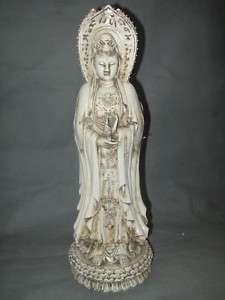 Chinese Dehua Porcelain 3  Faces Kwan Yin Statue