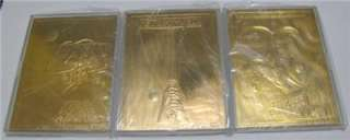 STAR WARS TRILOGY MOVIE POSTER 23KT GOLD CARD SET SCORE BOARD