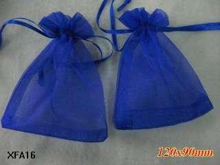 Pure Plain Organza Wedding Jewelery Favor Gift Bags Pouch 3.5x5 XFA