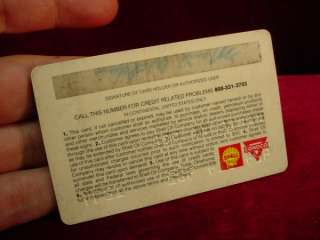 1974 SHELL GAS STATION CREDIT CARD Oil Company CHARGE CARD Service