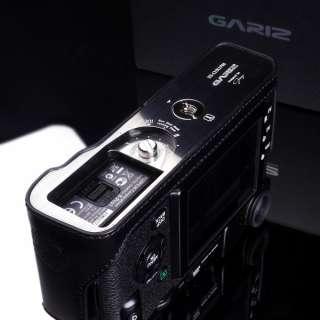 Black leather camera half case for Fuji Fujifilm X pro 1 body