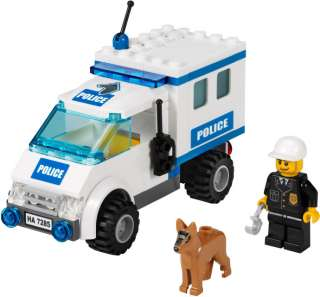 LEGO City Police Dog Unit 7285   Truck & Policeman   Dented Box