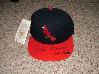 Stan Musial Signed St Louis Cardinals Fitted Wool Hat