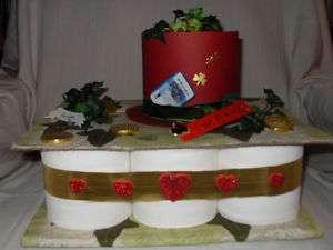 Geburtstag Zylinder Toilettenpapier Torte Geldgeschenk