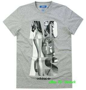 ADIDAS STREET GRAPHIC TEE SHIRT Grey sexy wild boxing girl trefoil new