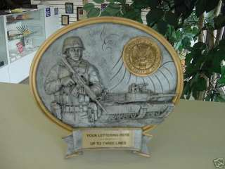 UNITED STATES ARMY PEWTER PLAQUE AWARD TROPHY