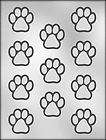 PAW PRINTS CHOCOLATE CANDY MOLD Dog Animal Soap Craft