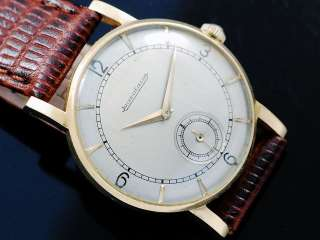 Jaeger LeCoultre 18K Solid Gold Sub Second Vintage Watch