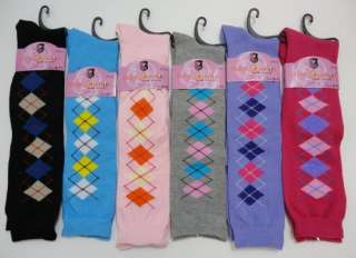 Cute Ladies Argyle Patterned/Print Knee High Socks YOU PICK COLOR