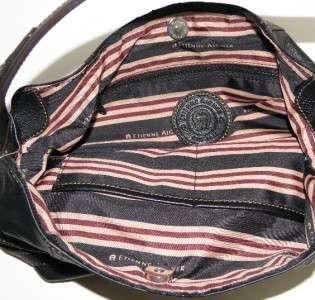 NEW ETIENNE AIGNER STONEBRIDGE BLACK LEATHER HOBO BAG