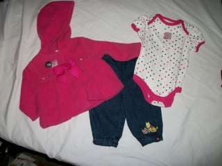 NWT NEW GIRLS 3PC DISNEY POOH BEAR OUTFIT SET 3/6M