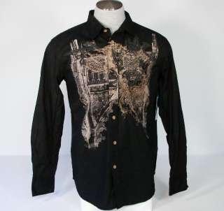 Brad Butter Mens Button Vintage Tattoo Shirt sz XL NWT