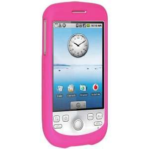 Amzer Rubberized Hot Pink Snap On Crystal Hard Case Cell