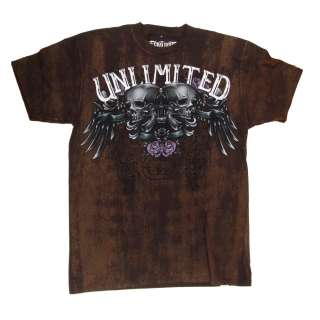 ECKO UNLTD MMA UFC Destroyer T Shirt Tee Brown RRP £30