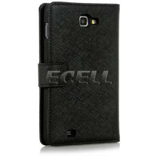 BLACK BOOK STYLE PROTECTIVE LEATHER CASE FOR SAMSUNG GT N7000 GALAXY