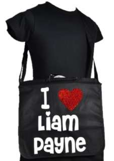 LOVE LIAM PAYNE ONE DIRECTION BLACK SCHOOL/COLLEGE MESSENGER BAG