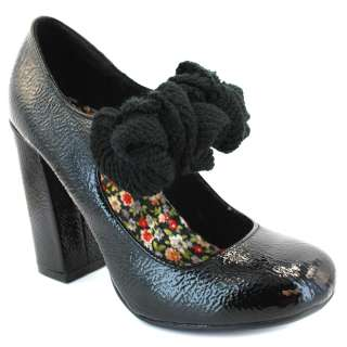 Rocket Dog Wink Womens Leather Mary Jane Shoes Black Patent