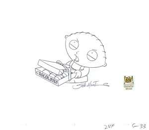 FAMILY GUY ORIGINAL PRODUCTION DRAWING STEWIE GRIFFIN