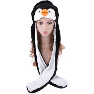 Cartoon Animal Penguin Cap plush Hat Scarf Gloves H2740