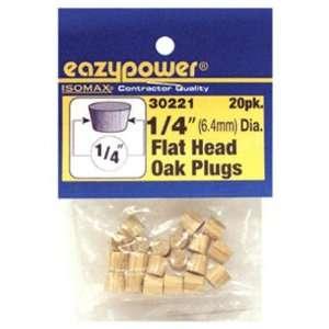 Eazypower Corporation 39436 1/4 Oak Flat Head Plug