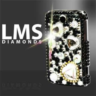 Magic Store   Black Diamante Love Heart Design Case For HTC Wildfire
