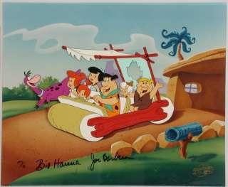 Flintstones Hanna Barbera CEL Meet The Flintstones  Signed *RARE
