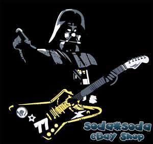 DARTH VADER Rock Star T SHIRT Guitar STAR WARS Hero XL