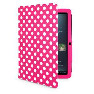 POLKA DOT STAND WALLET LEATHER CASE FOR MOTOROLA XOOM