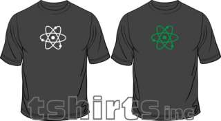 Atom Glow In The Dark Science Geek Funny Mens T Shirt Free Post U.K