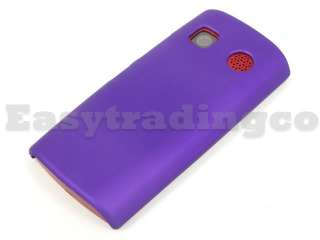 Hard Rubberized Rubber Back Cover Case for Nokia 500 Purple