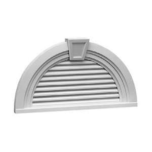 Round Louver with Decorative Trim and Keystone, Funct: Home & Kitchen